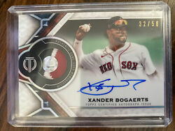 2021 Topps Tribute Patch Relic On-card Auto Xander Bogaerts 32/50 W/ Mlb Auth