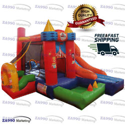 13x10ft Inflatable Circus Medium Combo Bounce House And Slide With Air Blower