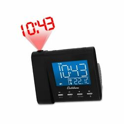 Electrohome EAAC601 Projection Alarm Clock with AM FM Radio Battery Backup ...