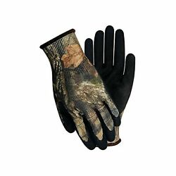 Handmaster T485tl Mossy Oak Coated Glove 100 Polyester Large Camo