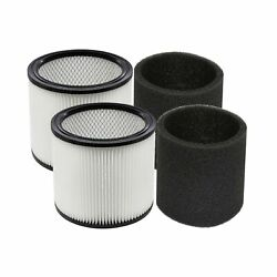Yuefeng 90304 Filter And 90585 Foam Sleeve For Shop-vac 5 Gallon And Up Wet/d...
