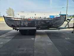 1946 Steel Lifeboat Welin Davit And Boat Corporation 22 Foot Sail Boat W/trailer