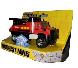 Tonka Toughest Minis Red And Black Wrecker Tow Truck Realistic Sounds And Lights New