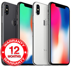Apple Iphone X 64gb 256gb - Factory Unlocked - New And Sealed In Original Box