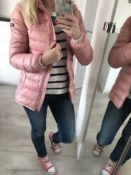 Xs Xsmall 6 Jacket Coat Padded Quilted Down Hood Salmon Pink Andpound200