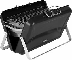 Tower Stealth Portable Charcoal Briefcase Bbq Barbeque With Carry Handle Black