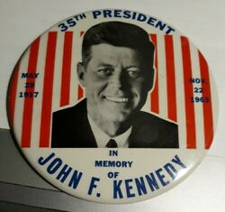 1963 Political Button 6 In Memory Of John Kennedy - Great Condition