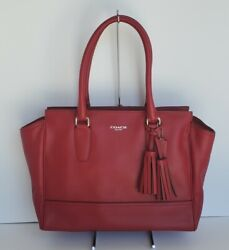 Nwot Coach Legacy Leather Candace Carryall Style 19890 Black Cherry Dark Red
