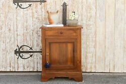 Antique French Louis Philippe Nightstand Cabinet