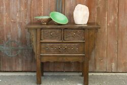 Antique Chinese Carved Altar Drawer Cabinet