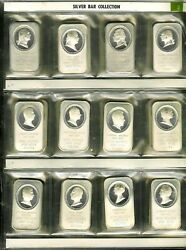 38 Silver 1oz 999 The Presidential Collection Set Art Bars By Madison Mint 1976