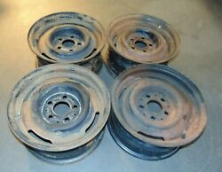 1970 Mercedes Benz 300sel 6.3 Sunrad Steel Rims14x6 1/2 Matched Date Code-nice-s