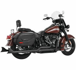Freedom 36 Sharktail True Dual Exhaust System For Softail Pitch Black Hd00770