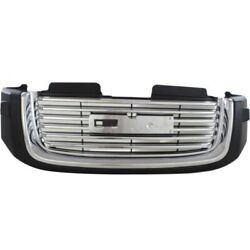 For Gmc Envoy Grille 2002-2009 Painted Black Shell W/ Chrome Insert Gm1200605