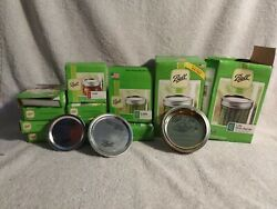 Lot Of Ball Lids And Rings Bands Mason Jar Canning 130 Lids 19 Rings Mixed Size