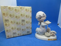 Precious Moments quot;Dropping Over For Dinnerquot; Porcelain Figurine E 2375 1985 Dove $14.00