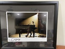 Extremely Rare Taylor Swift And Ash Newell Autographed Framed Photo
