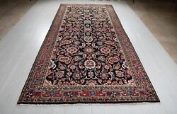 Collectible Vintage Tribal Area Rug 11'10 X 5'6 Navy Blue Soft Oriental Carpet