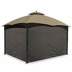 4 Pack Gazebo Universal Replacement Privacy 10'x10' And 10'x12' Gazebos Brown