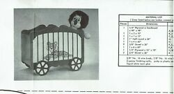 Vintage Woodworking Craft Pattern 3300 Neely Hall Circus Wagon Toy Chest Tiger