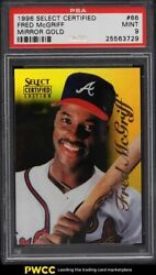 1996 Select Certified Mirror Gold Fred Mcgriff /30 66 Psa 9 Mint