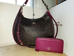 Coach Harley Hobo In Signature 38300 quot;Wallet selling separate quot; $89.95