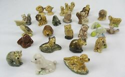 Wade England Red Rose Tea Animals Whimsies Figurines 27 Pc. Lot