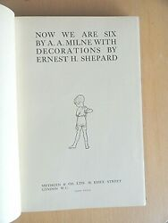 1927 Now We Are Six By Aa Milne And Shepard Deluxe Monogram Edition Winnie Pooh