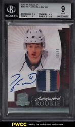 2010 Upper Deck The Cup Taylor Hall Rookie Rc Patch Auto /99 180 Bgs 9 Mint