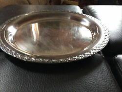 """Wm Rogers And Son Silver Co. Spring Flower Serving Tray 2055 13"""""""