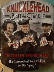 Knucklehead Bait @ Tackle Metal Sign Raised Letters 13 By 9 Inches Gas Shop