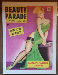 Beauty Parade Vintage 1950s Magazine Cover Pin-up Print/poster Glamoura3 Size
