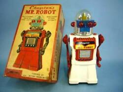 Yonezawa Cragstanand039s Mr. Robot 50and039s Vintage Tin Toy Battery Operated From Japan