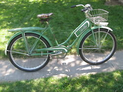 Vintage Rare Shelby Traveler Ladies 26 Tank And Rack Bicycle, 1950 / 51