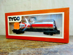Vintage Tyco Texaco 40and039 Single Dome Silver Tank Car Nib