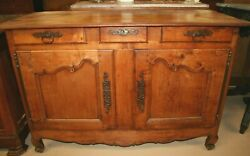 Antique French Fruitwood Provincial Louis Xv Style Sideboard Farm Chest Cabinet