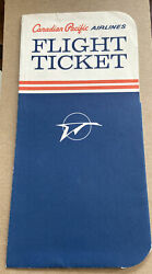 Canadian Pacific Airlines Vintage 1960's Flight Ticket Jacket