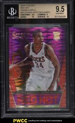 2013 Select Red Hot Purple Prizm Giannis Antetokounmpo Rookie Rc /99 34 Bgs 9.5