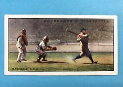 1929 Babe Ruth Churchmanandrsquos Sports And Games Many Lands Raw 25 Beautiful Corners