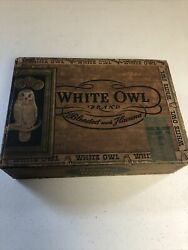 1 Vintage/antique White Owl Brand Blended With Havana Cigar Box. 1st District Pa