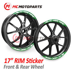 17and039and039 Rim Arrow 8pcs Wheel Stickers For Yamaha Mt-07 Mt-09 Mt-01 Yzf R6 R1