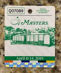 2019 Masters Augusta National Golf Club Badge Ticket Tiger Woods Wins 5th Of 5