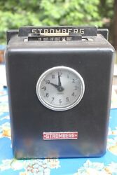 Antique Stromberg Time Punch Clock With Key