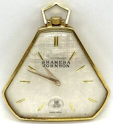 Rare Vintage Langendorf Masonic Swiss Watch Sterling Silver Dial Gold Field
