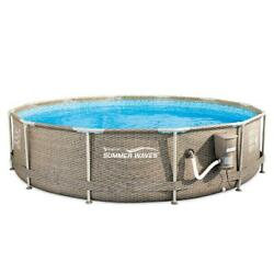 Summer Waves Active 12ft X 30in Above Ground Frame Swimming Pool With Filter