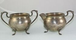 Vintage Sterling Silver Sugar And Creamer M. Fred Hirsch Co.