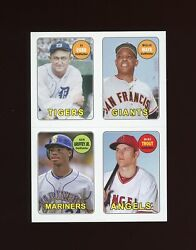 Mike Trout Cobb Mays Griffey 2013 Topps Archives 4-in-1 69s-cmgt Nm-mt Or Better