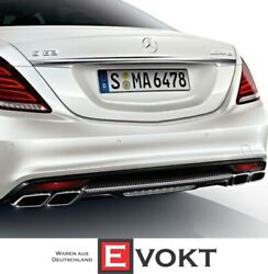 Original Mercedes S-class W222 S 63 Amg Carbon Rear Diffuser And Exhaust Tips New