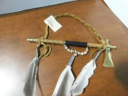 New Navajo Handmade 8tomahawk Andpeace Pipew/coa Made By Native Americans-r-m-3