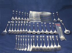 Sterling Silver Reed And Barton Classic Rose Flatware Set 48 Pieces 2385g